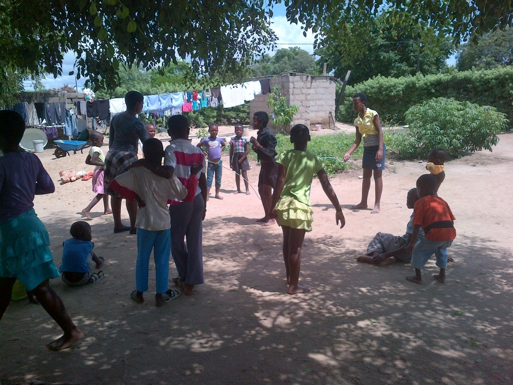 Games with all the neighbourhood children in the yard